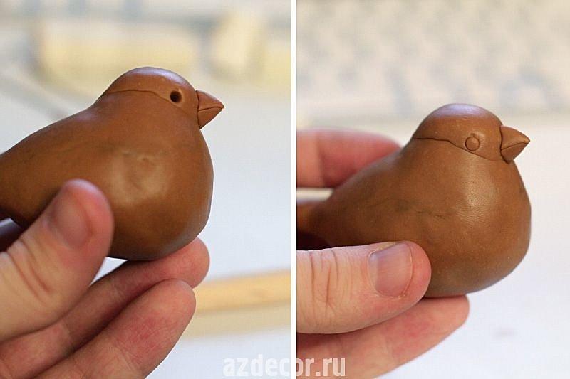 Как сделать птиц из глины